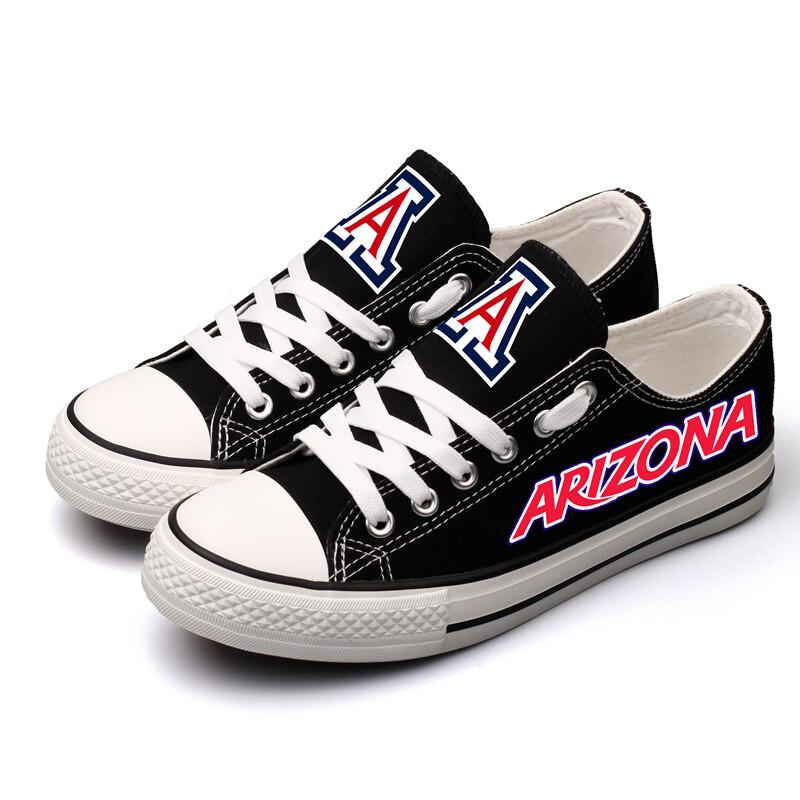 Arizona Wildcats Print NCAA College Canvas Shoes Sport Sneakers