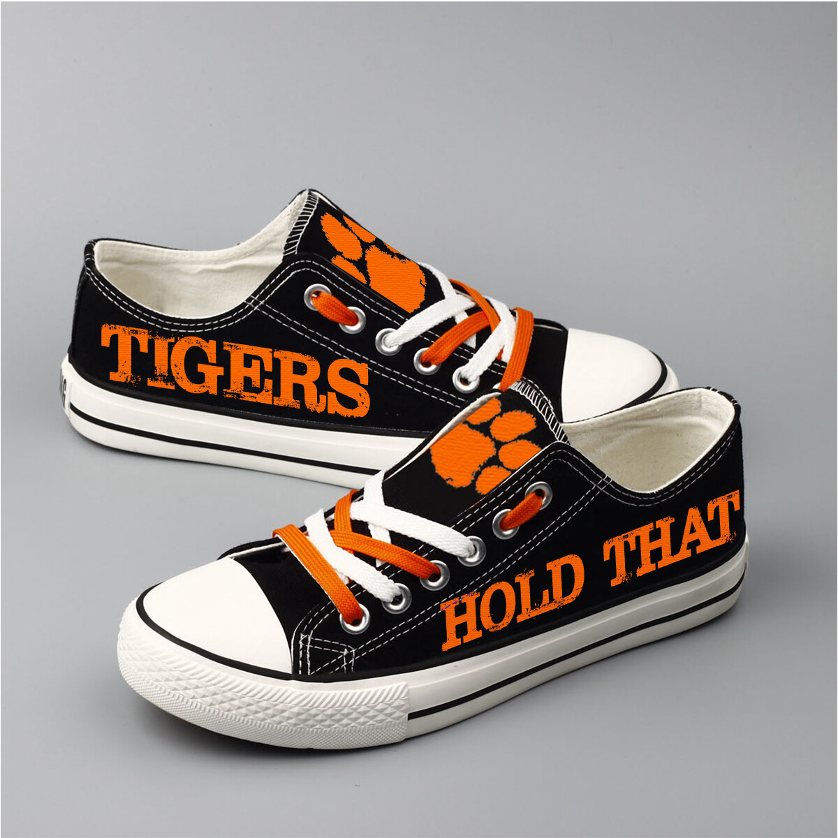 Clemson Tigers Print NCAA College Canvas Shoes Sport Sneakers 1