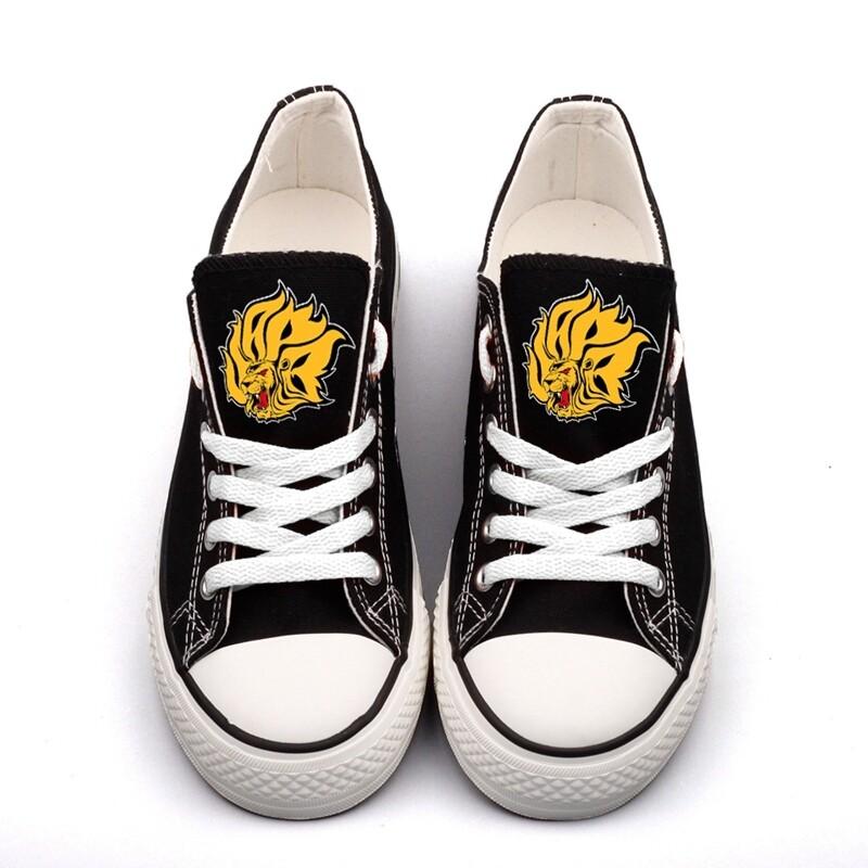 Arkansas-PB Golden Lions NCAA College Canvas Shoes Sport Sneakers