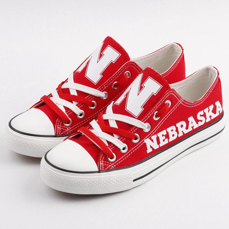 Customize Nebraska CornhuskersCanvas Shoes French Design Sneakers