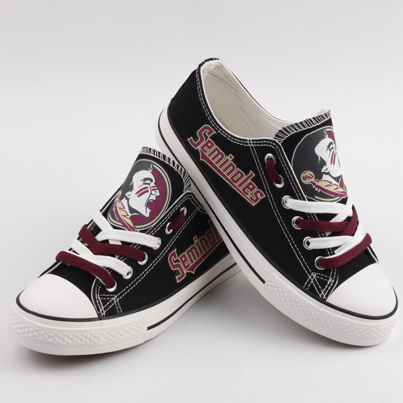 Florida State Seminoles NCAA College Canvas Shoes Sport Sneakers