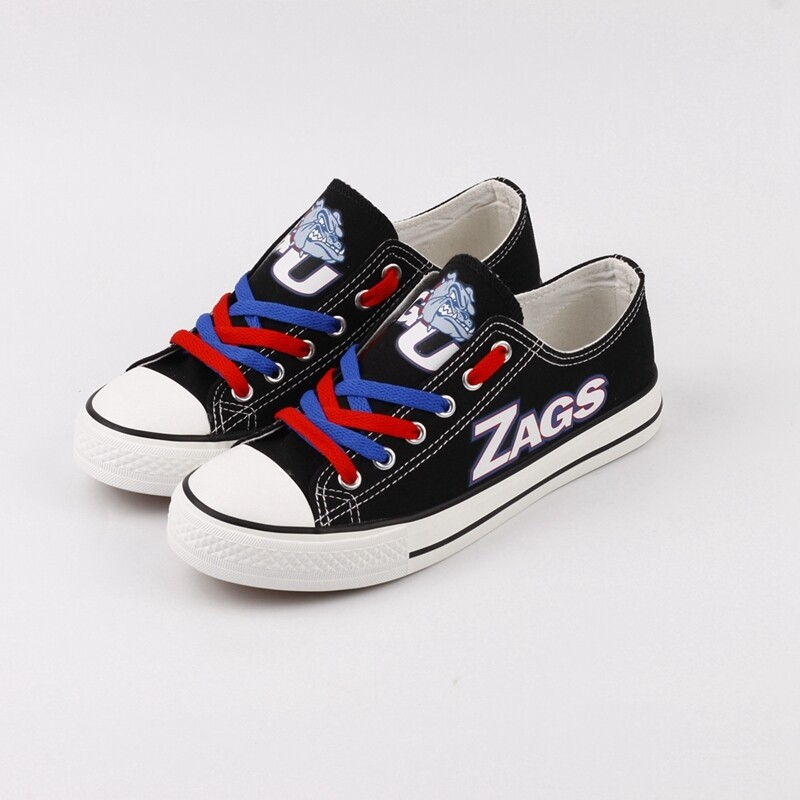 Gonzaga Bulldogs Print NCAA College Canvas Shoes Sport Sneakers