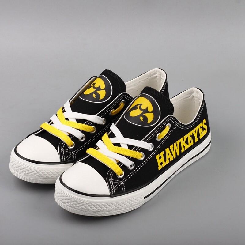 Iowa Hawkeyes Print NCAA College Canvas Shoes Sport Sneakers 1