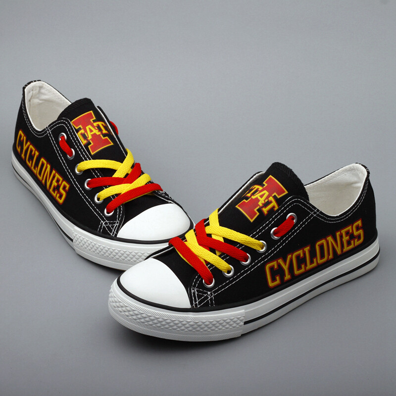 Iowa State Cyclones Print NCAA College Canvas Shoes Sport Sneakers