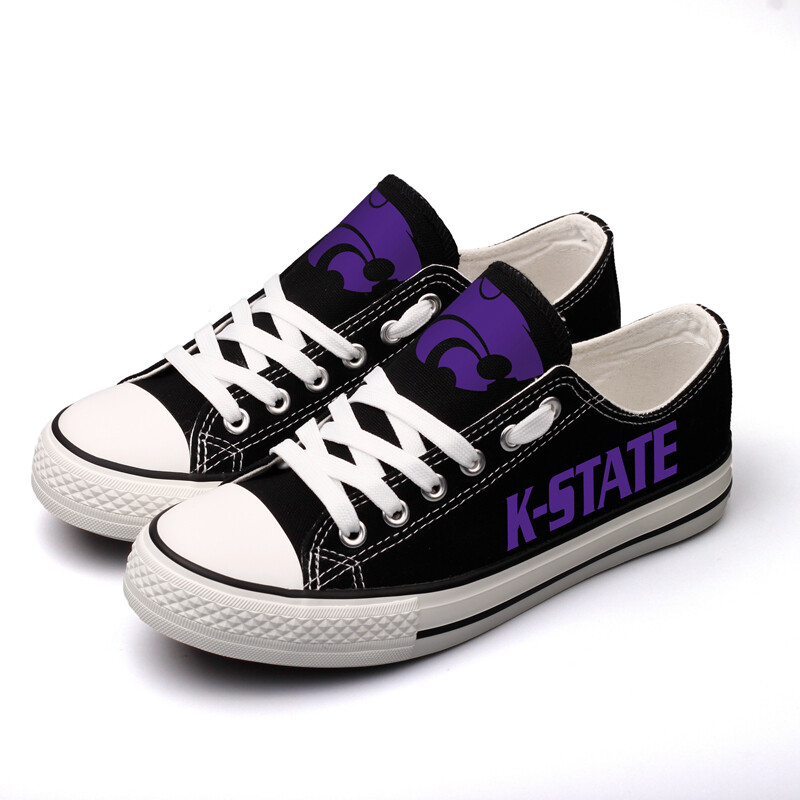Kansas State Wildcats Print NCAA College Canvas Shoes Sport Sneakers