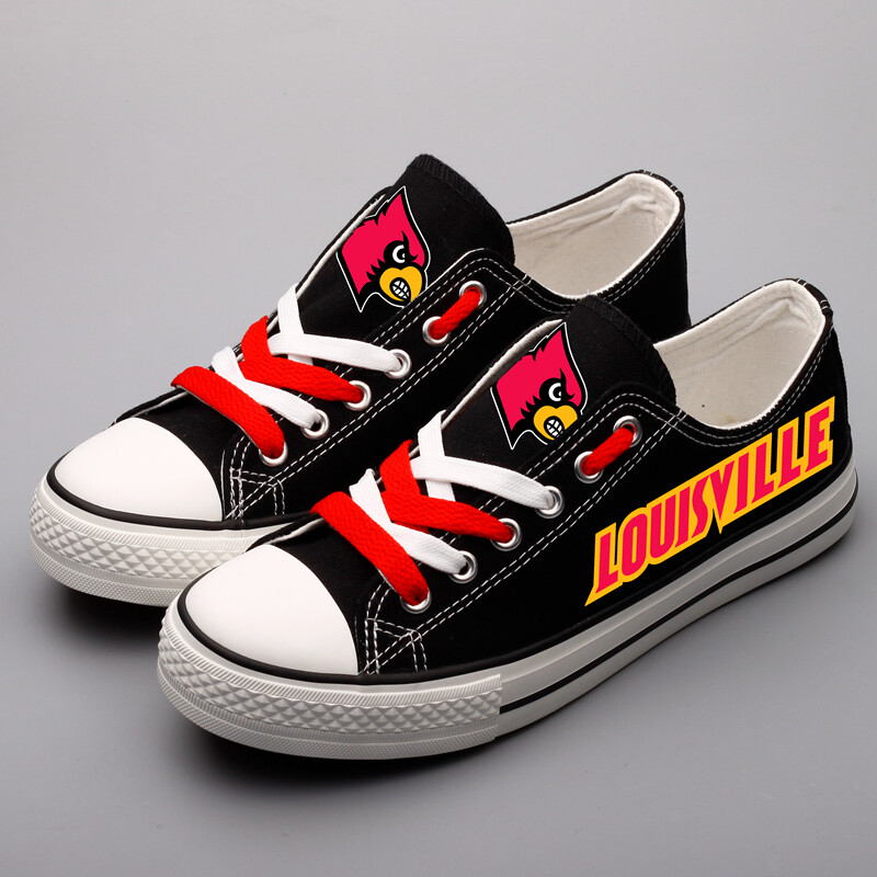 Louisville Cardinals Print NCAA College Canvas Shoes Sport Sneakers