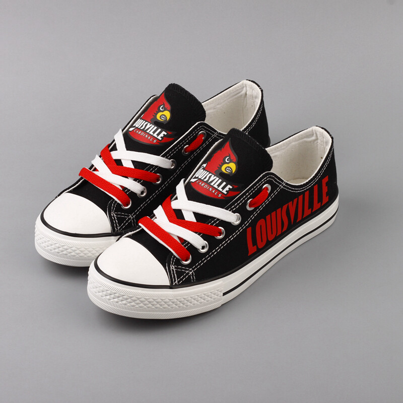 Louisville Cardinals Print NCAA College Canvas Shoes Sport Sneakers 2