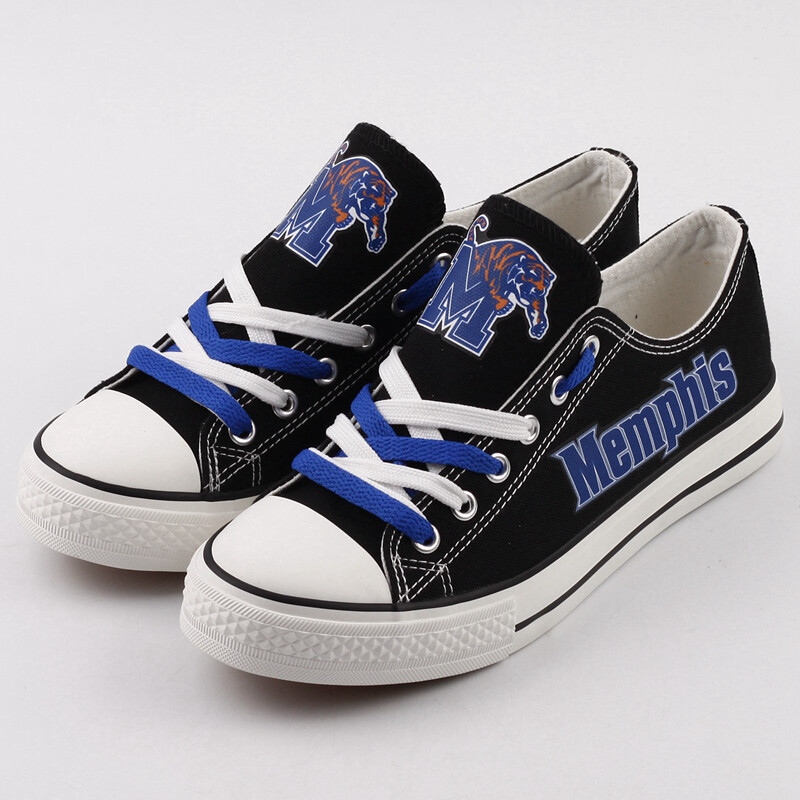 Memphis Tigers Print NCAA College Canvas Shoes Sport Sneakers