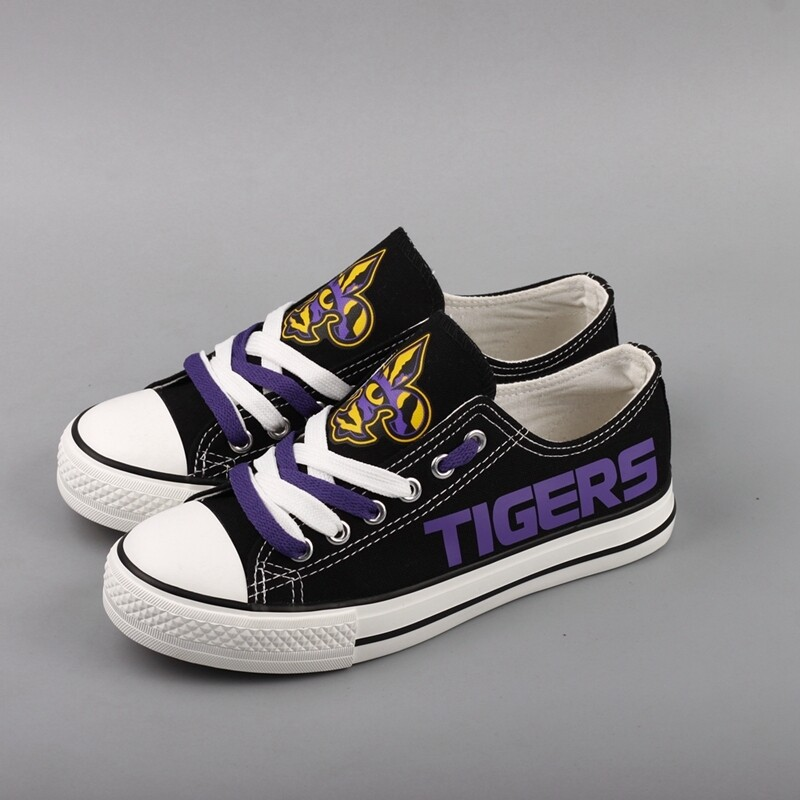 LSU Tigers Limited Print NCAA CollegeCanvas Shoes Sport Sneakers 2
