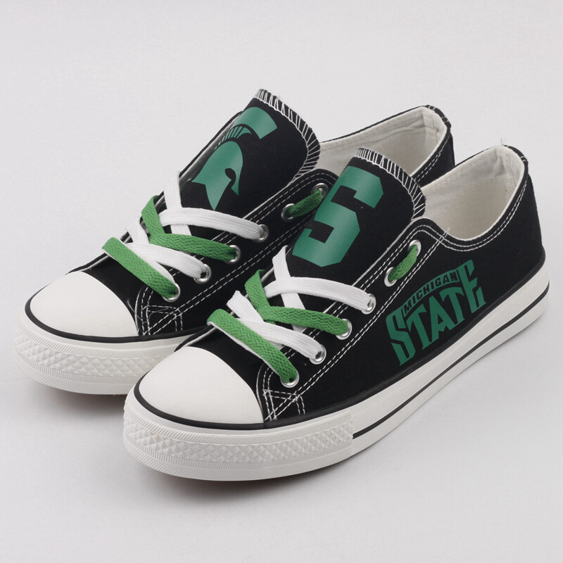 Michigan State Spartans NCAA College Canvas Shoes Sport Sneakers 1
