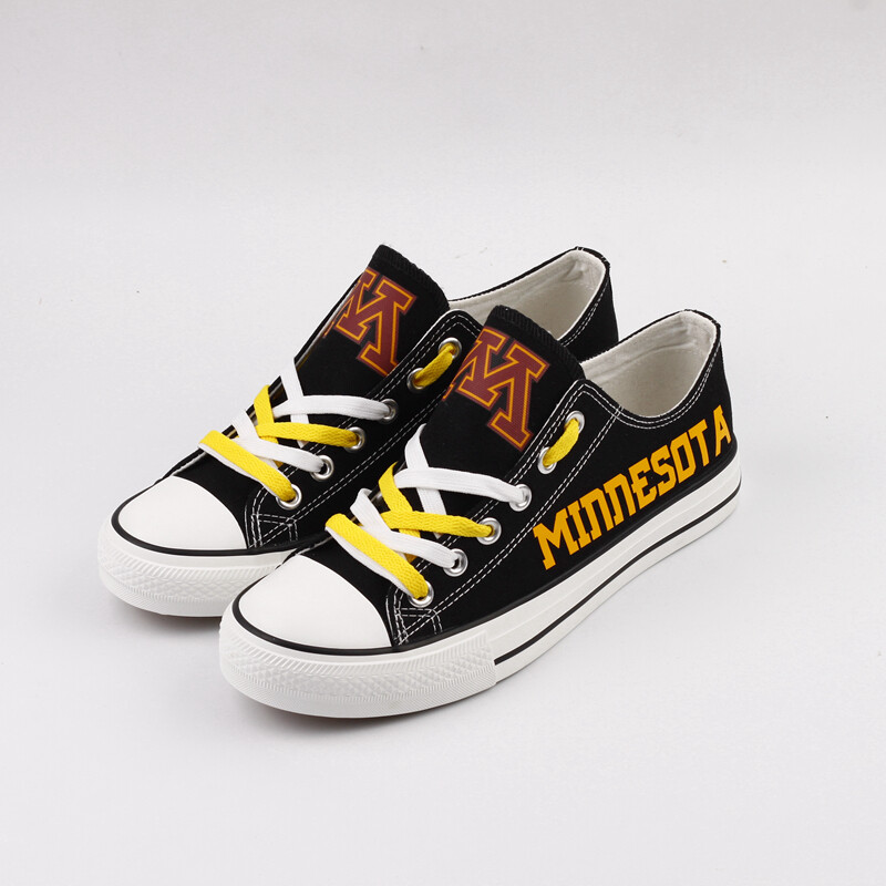 Minnesota Golden Gophers NCAA College Canvas Shoes Sport Sneakers