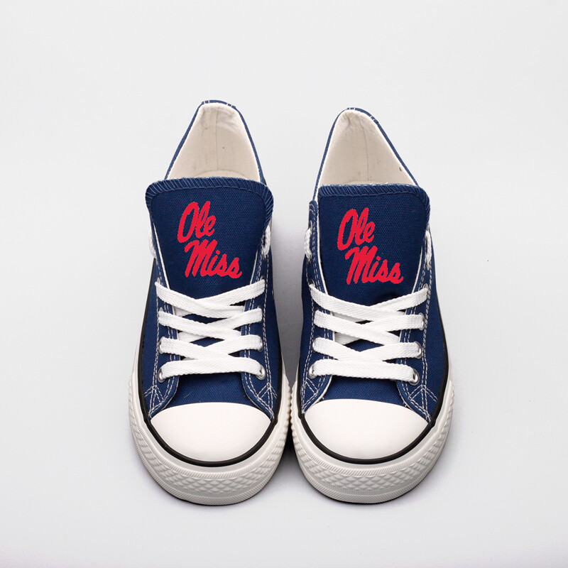 Mississippi Rebels NCAA College Canvas Shoes Sport Sneakers 1
