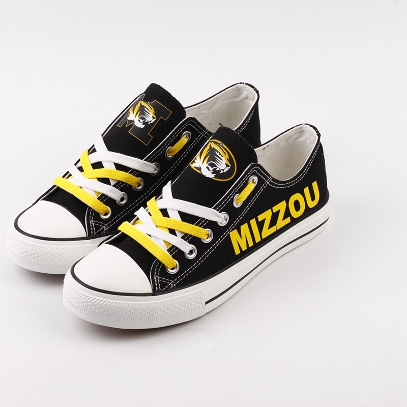 Missouri Tigers Print NCAA College Canvas Shoes Sport Sneakers
