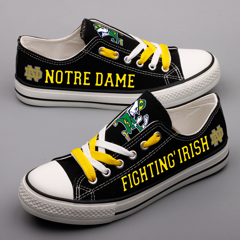 Notre Dame Fighting Irish Print NCAA College Shoes Sport Sneakers