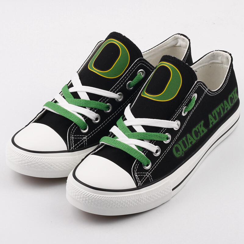 Oregon Ducks Print NCAA College Canvas Shoes Sport Sneakers 2