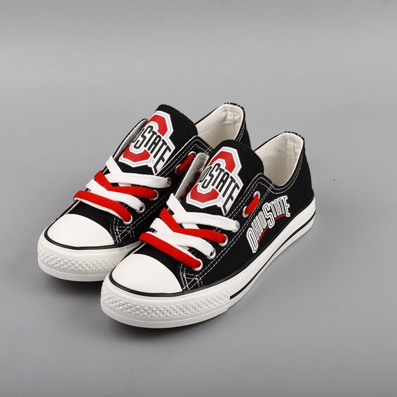 Ohio State Buckeyes Print NCAA College Canvas Shoes Sport Sneakers 1
