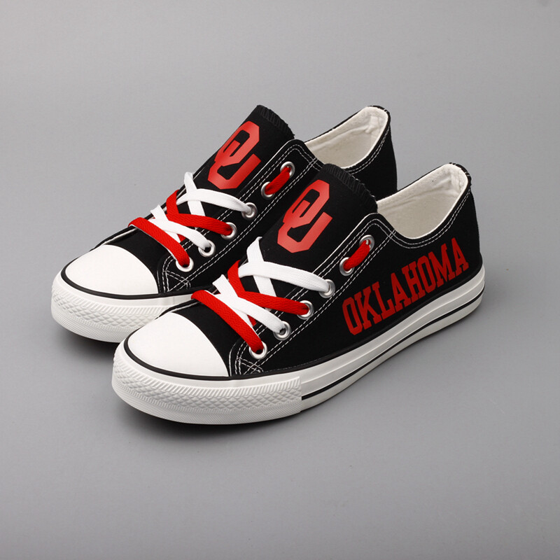 Oklahoma Sooners Print NCAA College Canvas Shoes Sport Sneakers 1