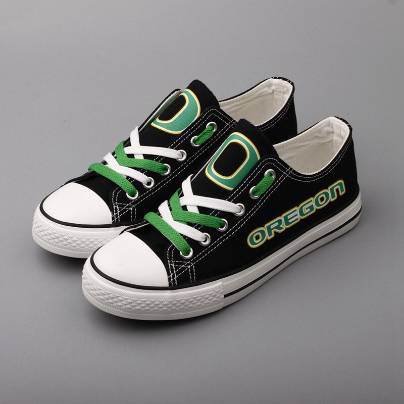 Oregon Ducks Print NCAA College Canvas Shoes Sport Sneakers 1
