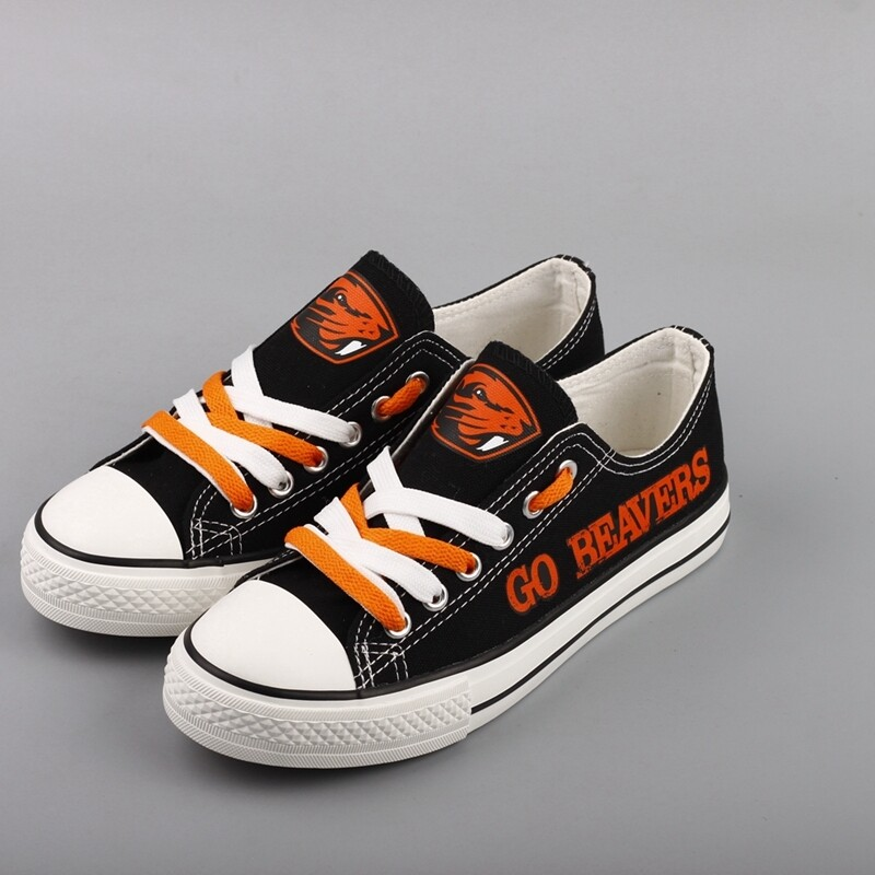 Oregon State Beavers NCAA College Canvas Shoes Sport Sneakers 2