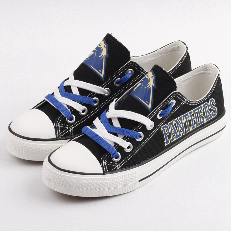 Pittsburgh Panthers Print NCAA College Canvas Shoes Sport Sneakers 1