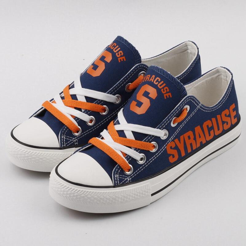 Syracuse Orange Print NCAA College Canvas Shoes Sport Sneakers