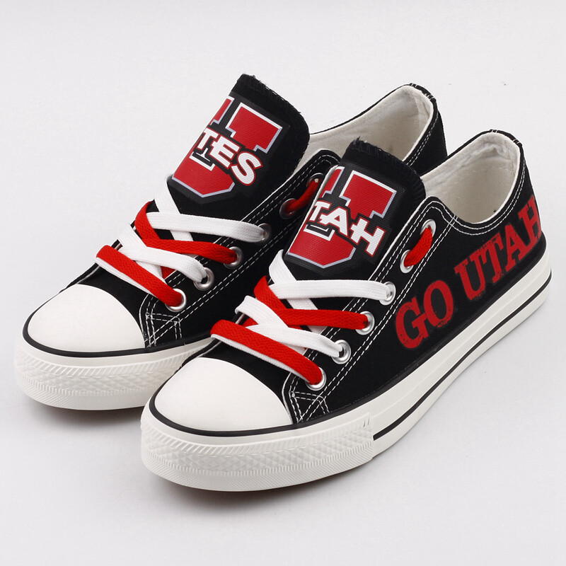 Utah Utes Limited Print NCAA College Canvas Shoes Sport Sneakers 2