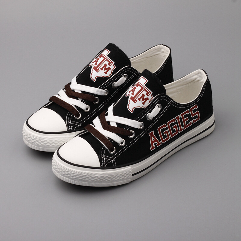 Texas A&M Aggies Print NCAA College Canvas Shoes Sport Sneakers