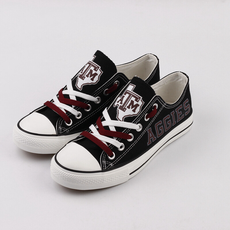 Texas A&M Aggies Print NCAA College Canvas Shoes Sport Sneakers 2
