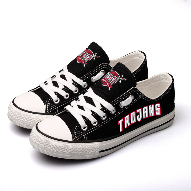 Troy Trojans Limited Print NCAA College Canvas Shoes Sport Sneakers