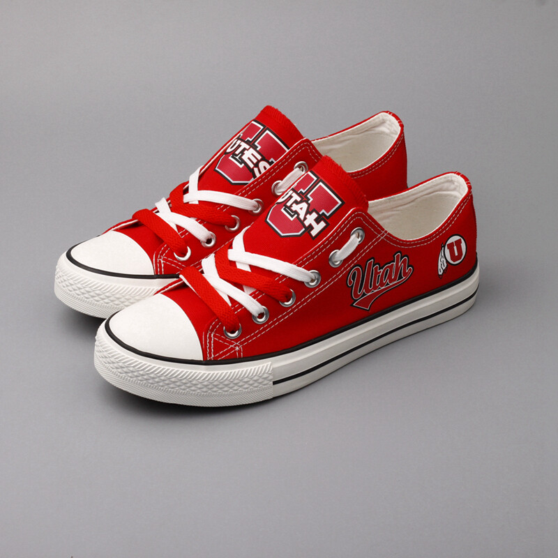 Utah Utes Limited Print NCAA College Canvas Shoes Sport Sneakers