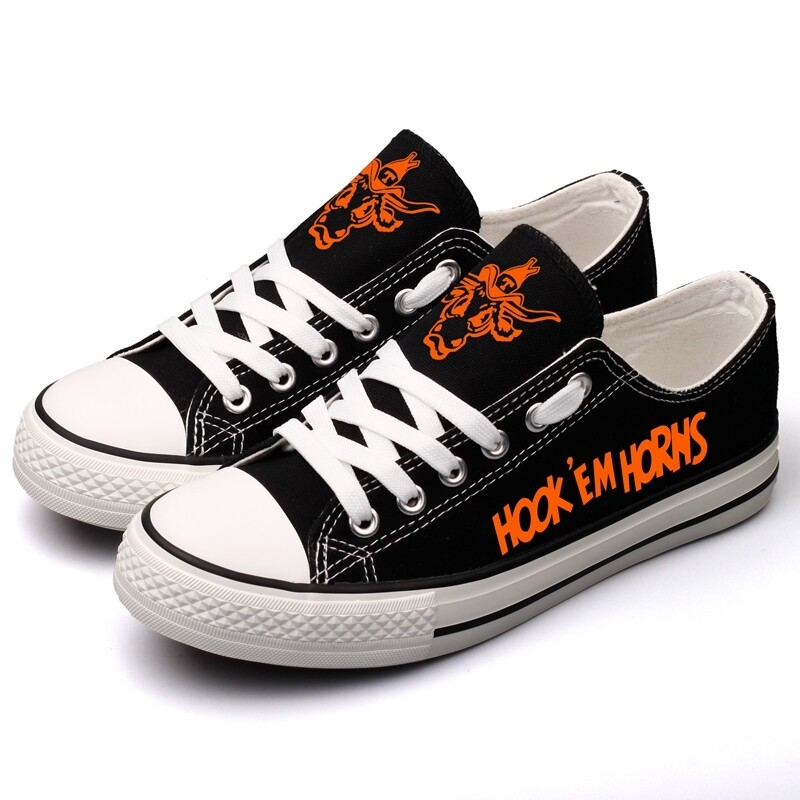 Texas Longhorns Print NCAA College Canvas Shoes Sport Sneakers 1