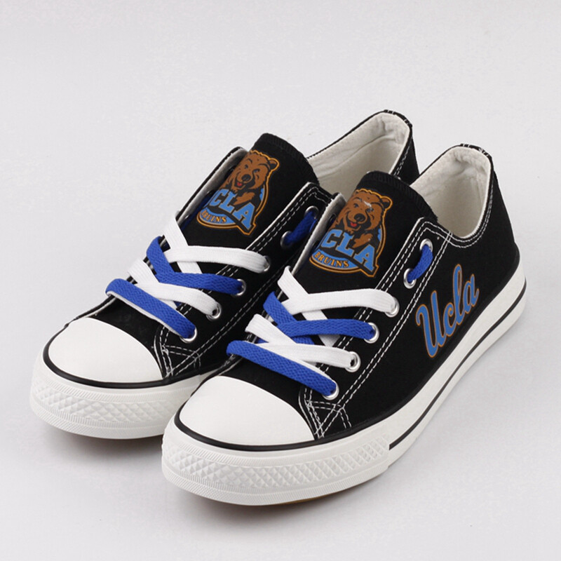 UCLA Bruins Limited Print NCAA College Canvas Shoes Sport Sneakers