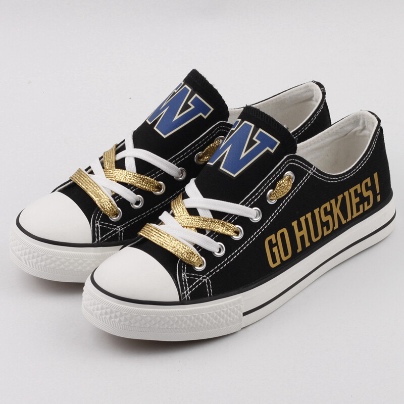 Washington Huskies NCAA College Canvas Shoes Sport Sneakers 3