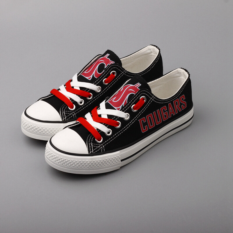 Washington State Cougars NCAA College Canvas Shoes Sport Sneakers