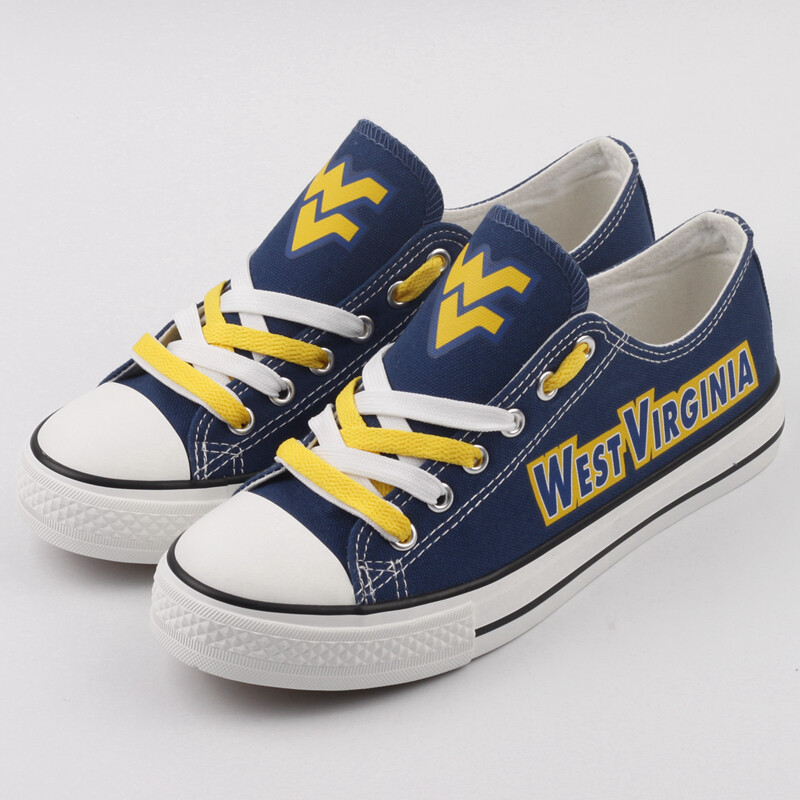 West Virginia Mountaineers NCAA College Canvas Shoes Sport Sneakers