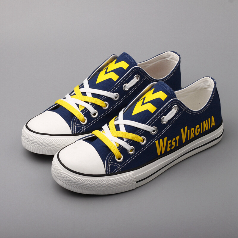 West Virginia Mountaineers NCAA College Shoes Sport Sneakers 1