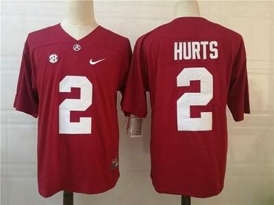 Alabama Crimson Tide #2 Jalen Hurts College Football Jersey Red