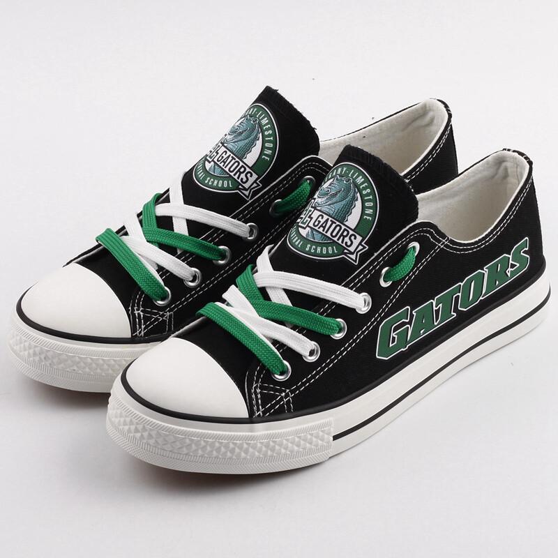 Allegany Gators Print High School Canvas Shoes Sport Sneakers
