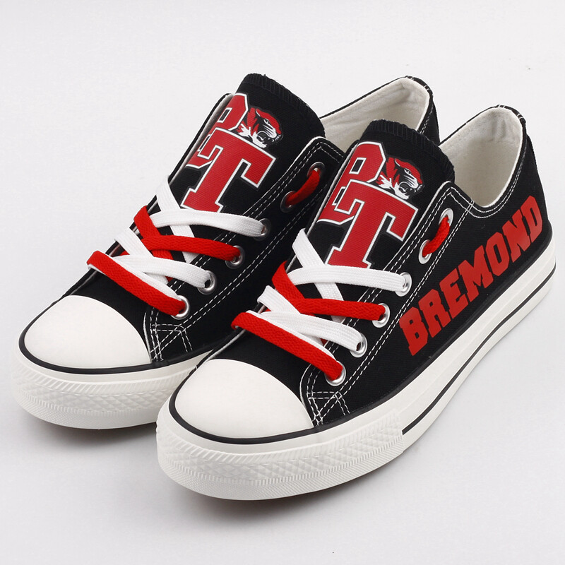 Bremond Tigers Print High School Canvas Shoes Sport Sneakers
