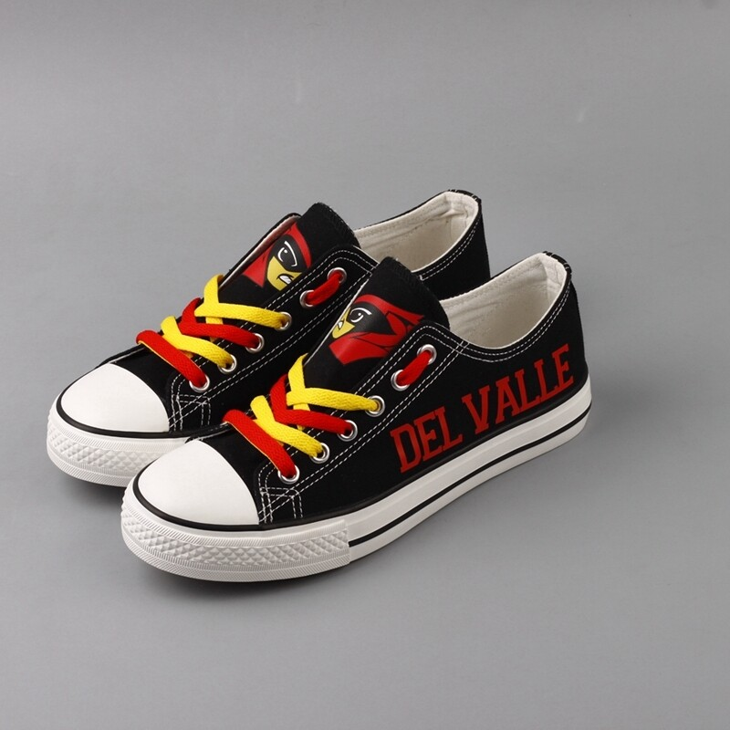 Del Valle Cardinals Print High School Canvas Shoes Sport Sneakers