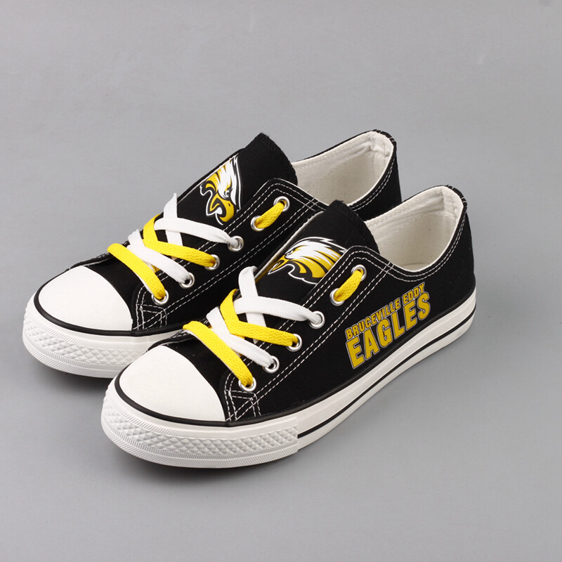 Bruceville Eddy Eagles Limited Print High School Students Low Top Canvas Shoes Sport Sneakers