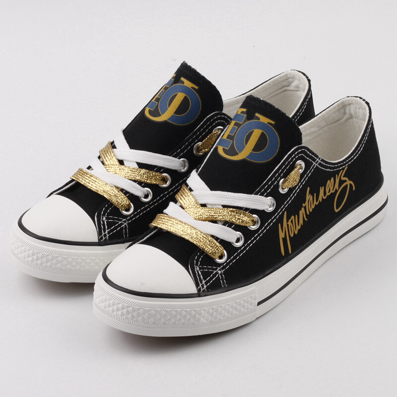 EOU Mountaineers Print High School Canvas Shoes Sport Sneakers