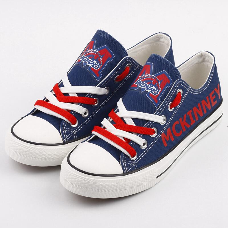 McKinney Boyd Broncos Print High School Canvas Shoes Sport Sneakers