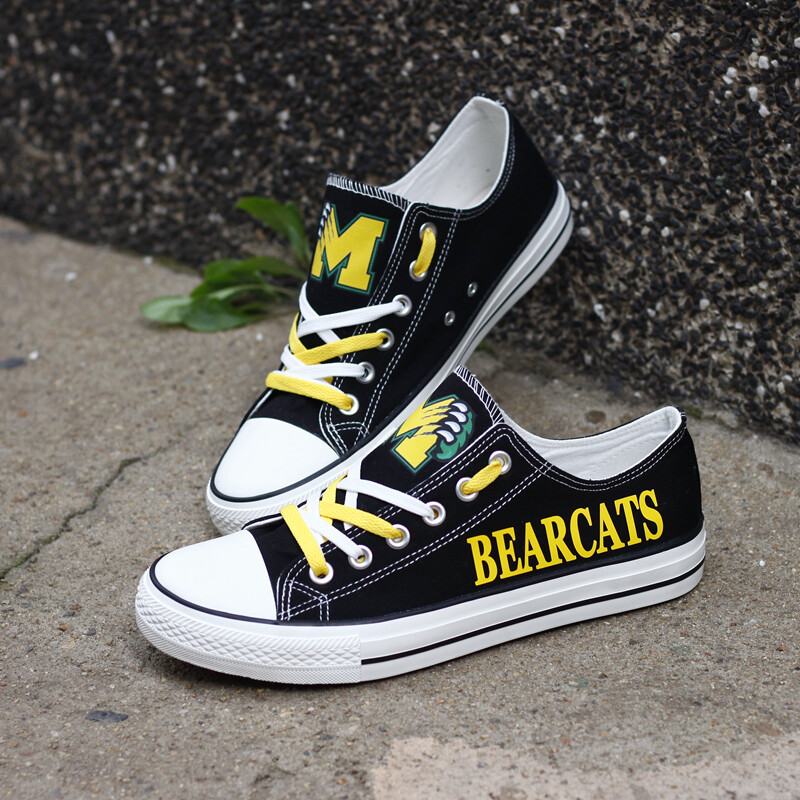 Moody Bearcats Print High School Canvas Shoes Sport Sneakers