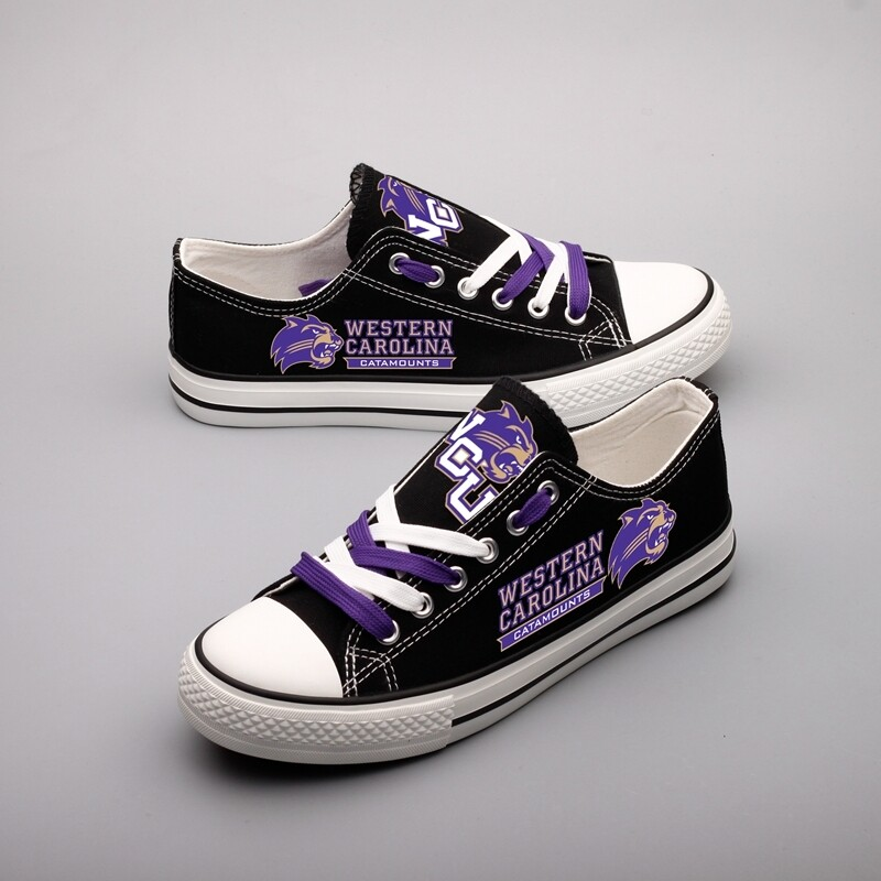 Western Carolina Catamounts Print High School Canvas Shoes Sport Sneakers