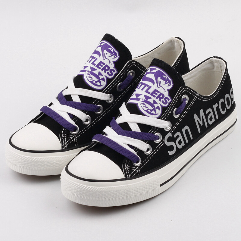 San Marcos Rattler Print High School Canvas Shoes Sport Sneakers