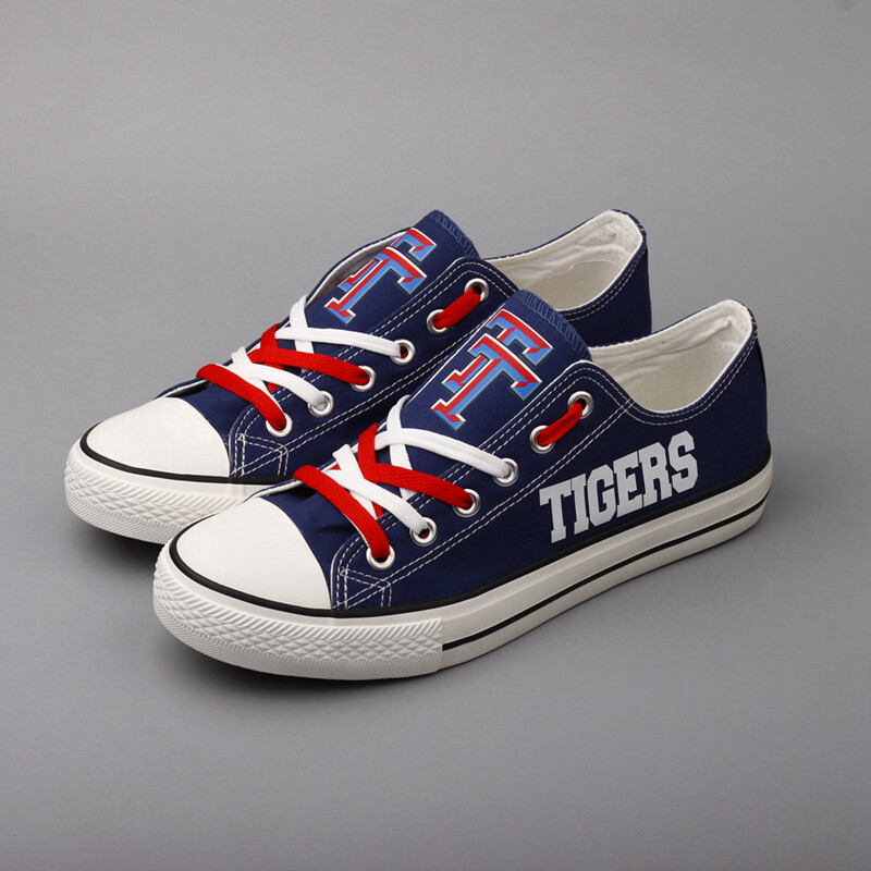 Tidehaven Tigers Print High School Canvas Shoes Sport Sneakers