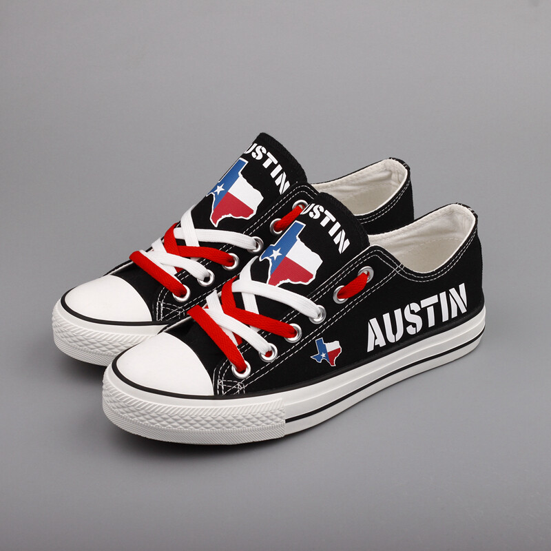 Custom America Print Canvas Shoes Texas State Austin City Design Sport Sneakers