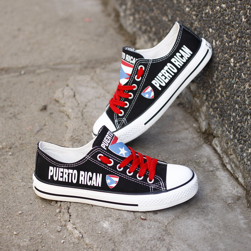 Customize America Puerto Rico Print Canvas Shoes Puerto Rican Design Sport Sneakers 1