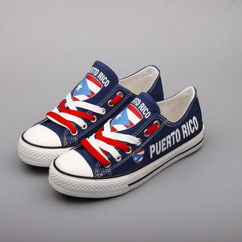 Customize America Puerto Rico Print Canvas Shoes Puerto Rican Design Sport Sneakers 2